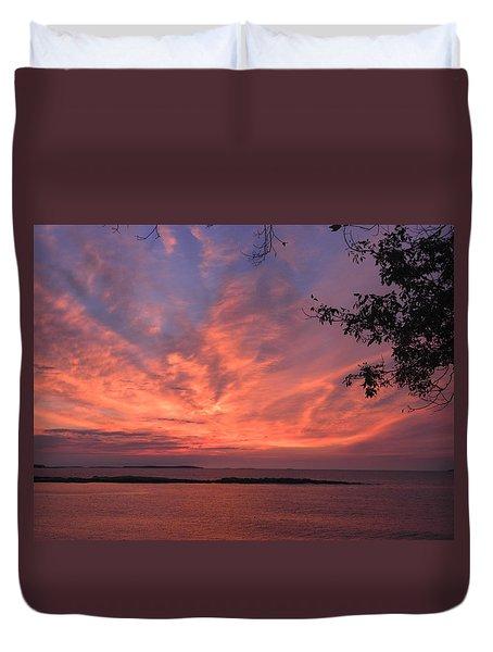 Muscongus Sound Sunrise Duvet Cover