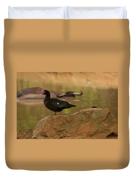 Muscovy Duck Duvet Cover