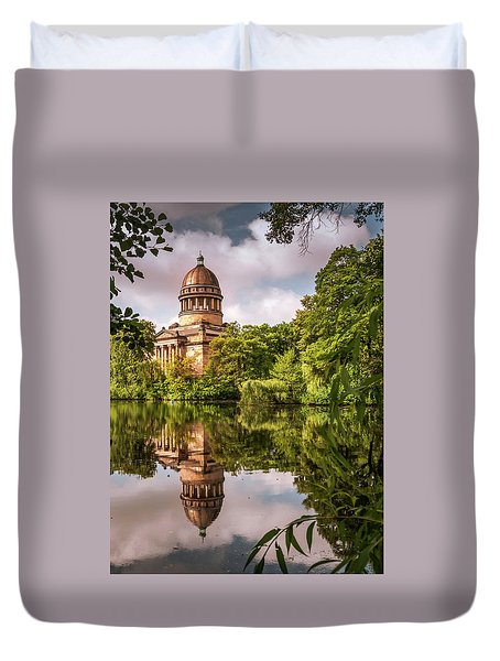 Museum At The Zoo Duvet Cover by Martina Thompson