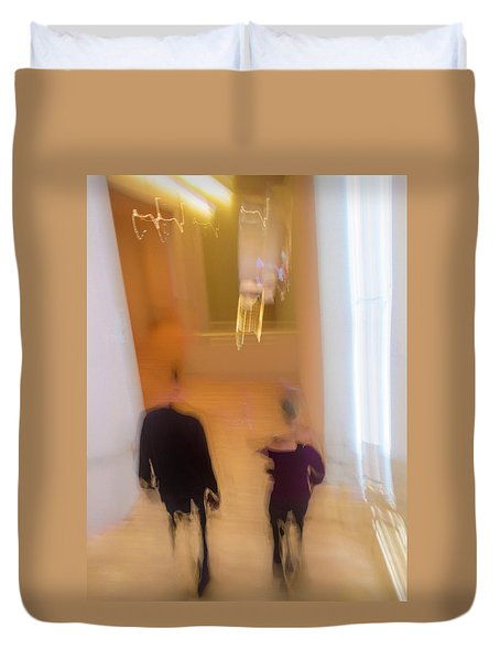 Duvet Cover featuring the photograph Museum Day by Alex Lapidus
