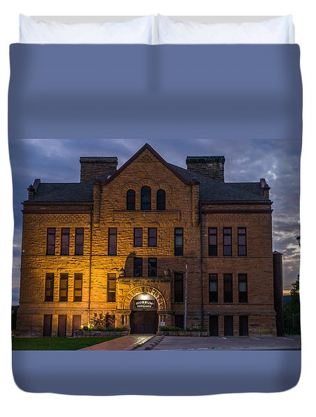 Duvet Cover featuring the photograph Museum by Jerry Cahill