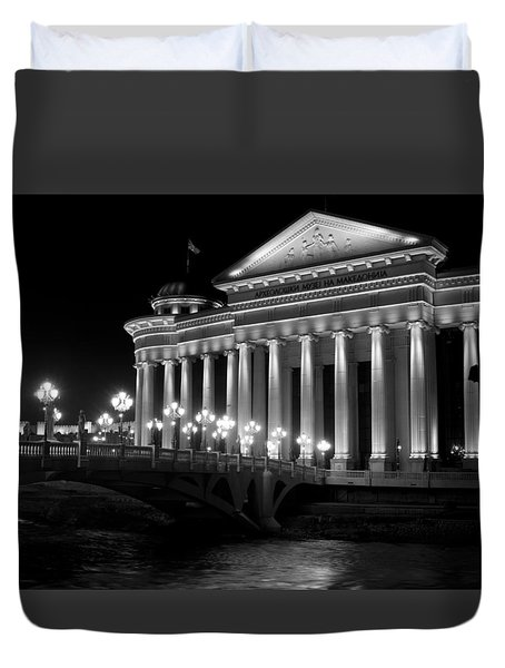 Museum Of Archaeology Duvet Cover by Rae Tucker
