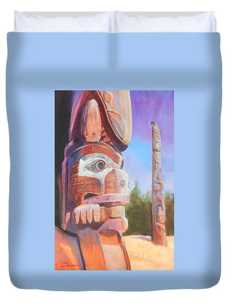 Museum Of Man Duvet Cover by Ron Wilson