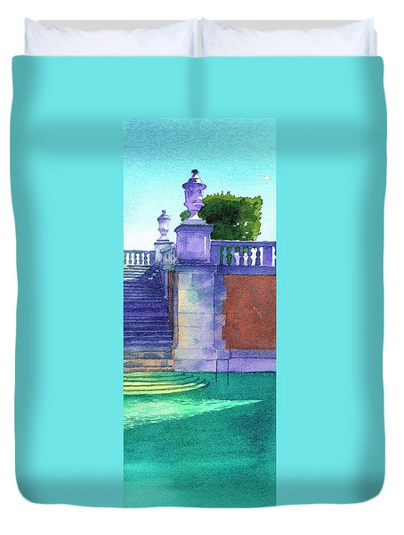 Museum Pool, Miami Duvet Cover