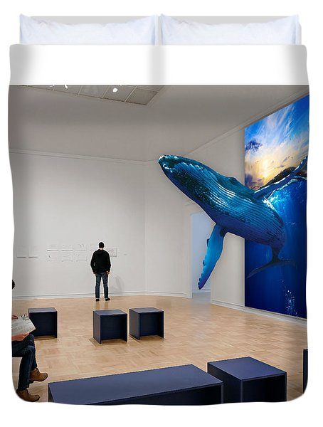 Museum Whale Watching Duvet Cover
