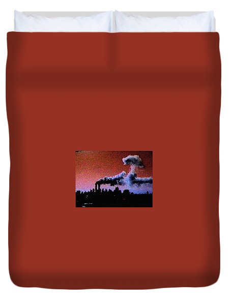 Mushroom Cloud From Flight 175 Duvet Cover