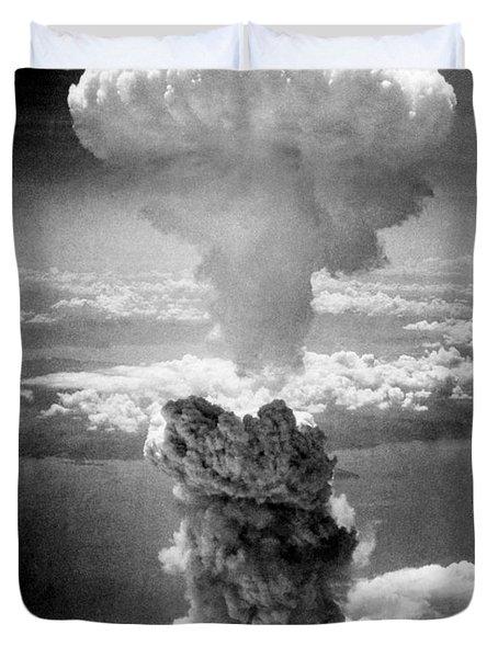 Mushroom Cloud Over Nagasaki  Duvet Cover