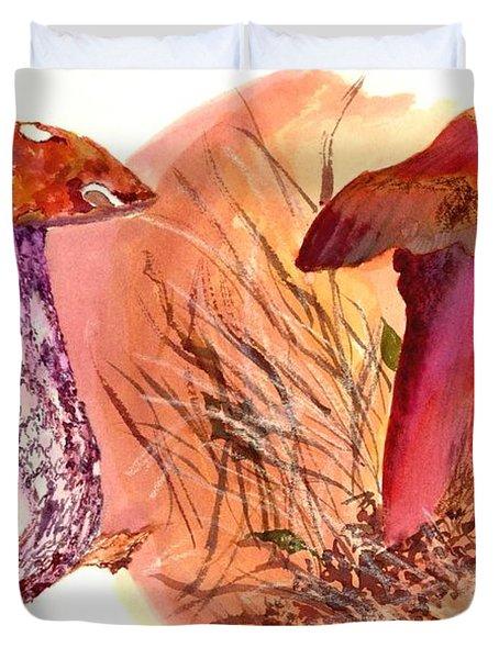 Mushroom Family Duvet Cover