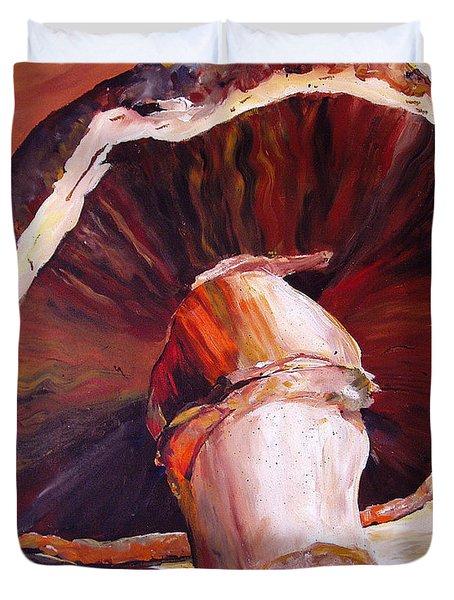 Mushroom Still Life Duvet Cover