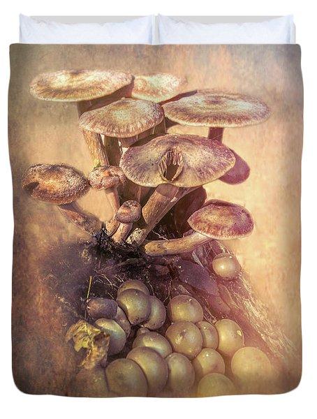 Mushrooms Gone Wild Duvet Cover