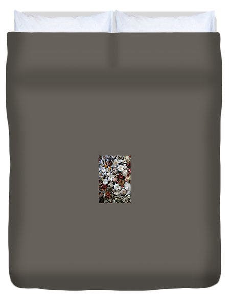 Mushrooms In Thailand Duvet Cover