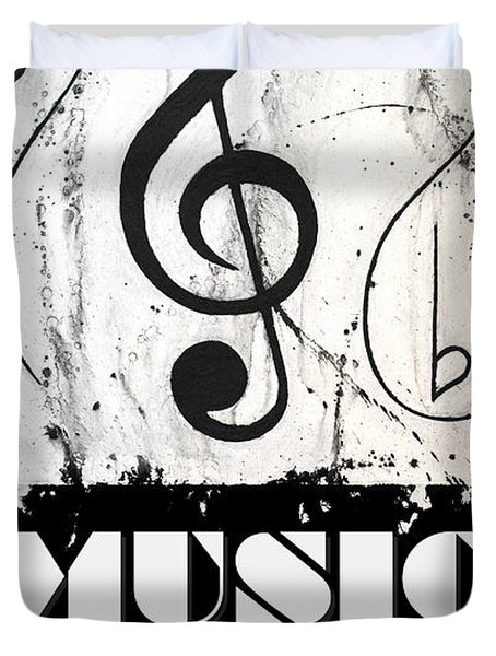 Music 1- Music In Motion Duvet Cover