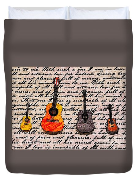 Music And Poetry By Jasna Gopic Duvet Cover