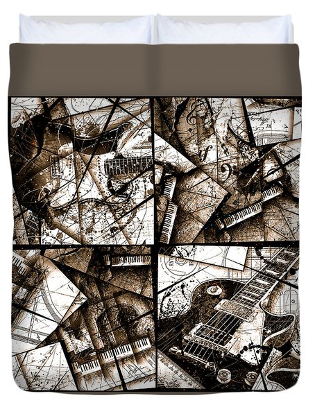 Music Box I Sepia Duvet Cover