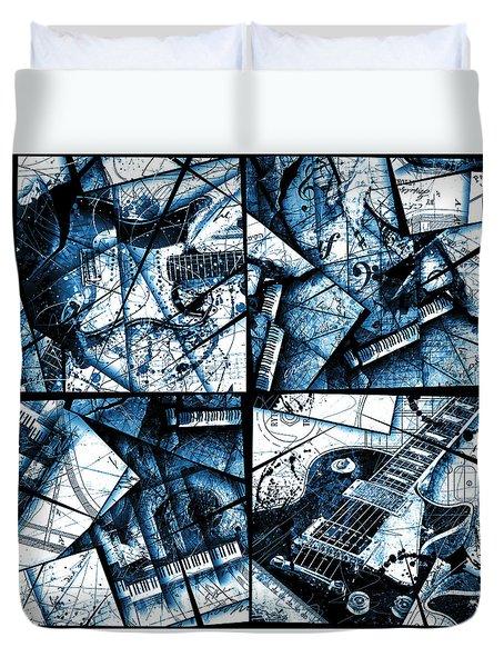 Music Box I Azure Duvet Cover by Gary Bodnar