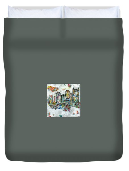 Music City Dreams Duvet Cover by Kirsten Reed