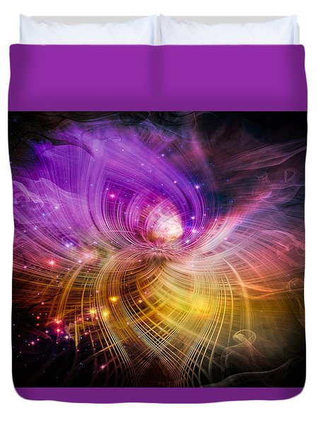 Music From Heaven Duvet Cover by Carolyn Marshall