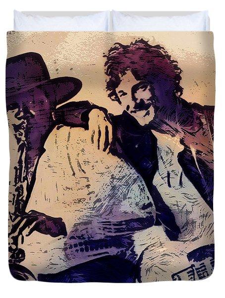 Music Icons - Bruce Springsteen IIi Duvet Cover