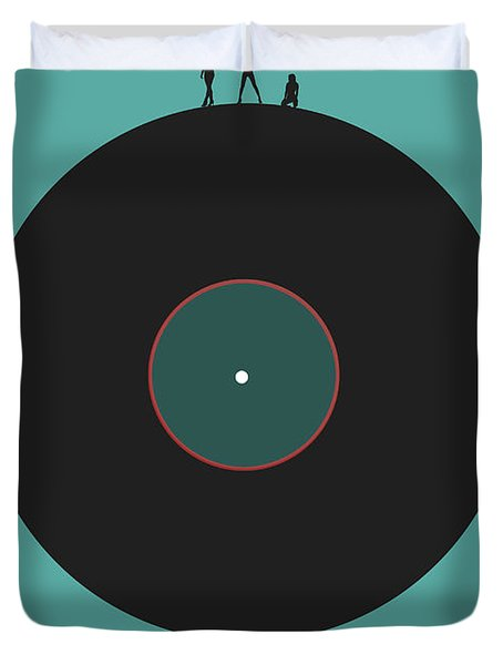 Music Is An Outburst Of The Soul Poster Duvet Cover