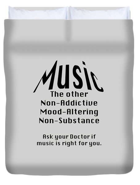 Music Is Right For You 5502.02 Duvet Cover by M K  Miller