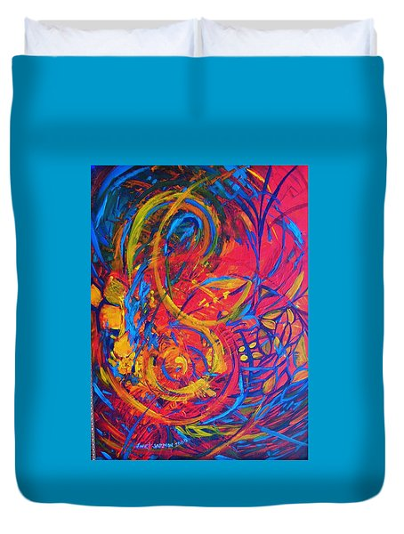 Music Duvet Cover by Jeanette Jarmon