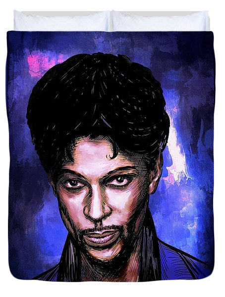 Music Legend  Prince Duvet Cover