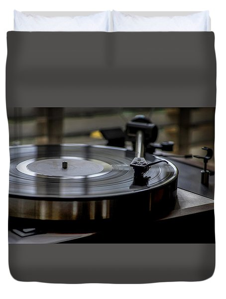 Duvet Cover featuring the photograph Music Maker by Stephen Anderson