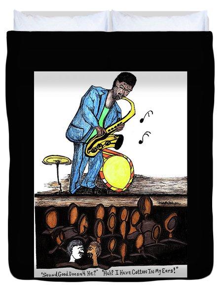 Music Man Cartoon Duvet Cover