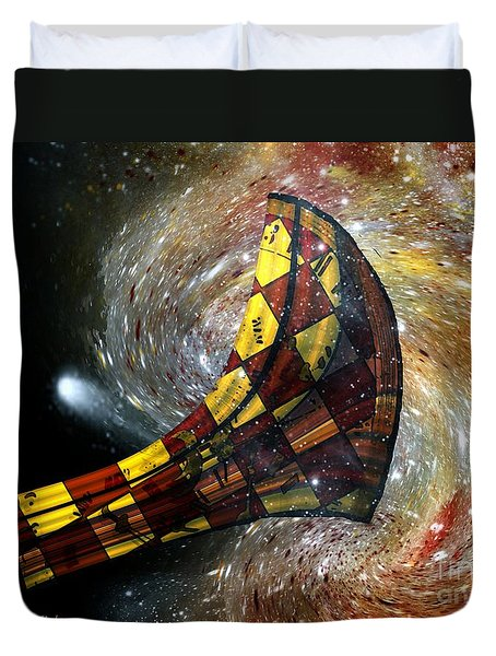 Music Of The Cosmos Duvet Cover by RC deWinter
