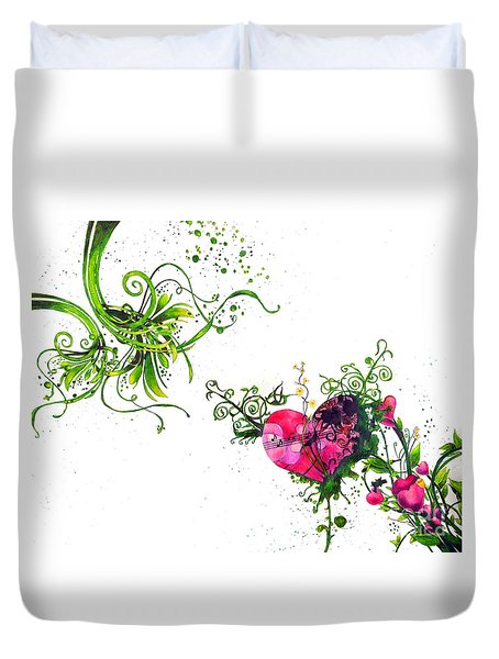 Music Of The Heart Duvet Cover
