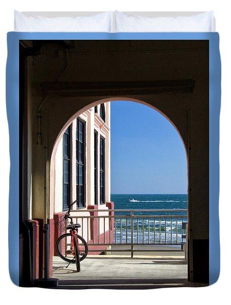 Music Pier Doorway View Duvet Cover
