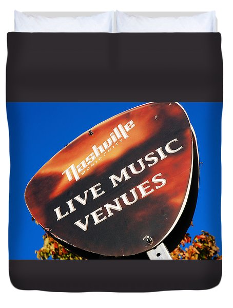 Duvet Cover featuring the photograph Music Row Nashville by James Kirkikis