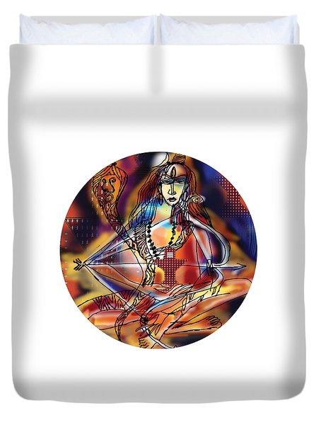 Music Shiva Duvet Cover