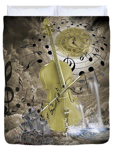Music Time Duvet Cover