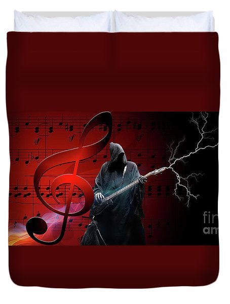 Music To Die For Duvet Cover