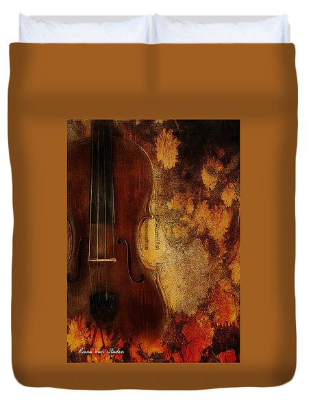 Duvet Cover featuring the digital art Music To My Soul  by Riana Van Staden
