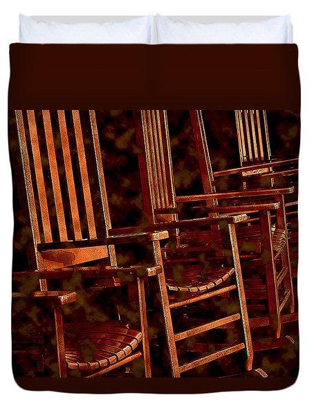 Musical Chairs Duvet Cover