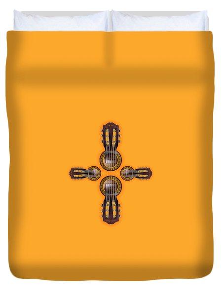 Musical Cross Duvet Cover by Doron Mafdoos