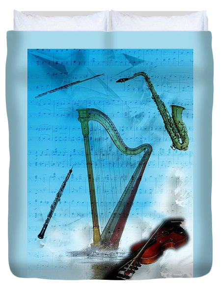 Musical Instruments Duvet Cover