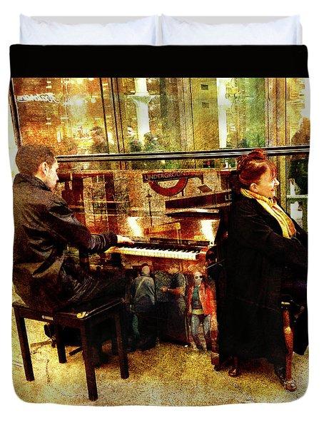 Musical London Duvet Cover