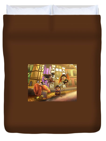Musical Mayhem Duvet Cover