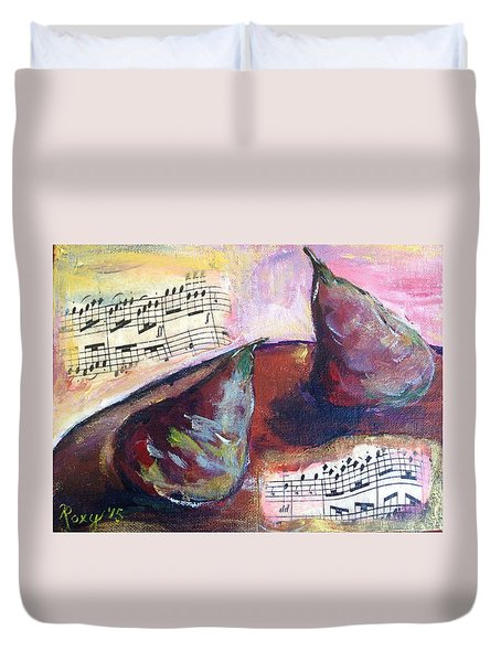 Musical Pears Duvet Cover by Roxy Rich