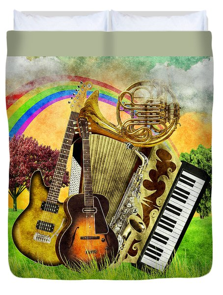 Musical Wonderland Duvet Cover