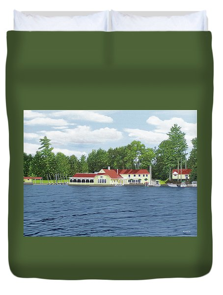 Duvet Cover featuring the painting Muskoka Lakes Golf And Country Club by Kenneth M Kirsch