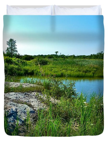 Duvet Cover featuring the photograph Muskoka Ontario 4 by Claire Bull