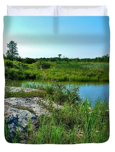 Muskoka Ontario 4 Duvet Cover by Claire Bull