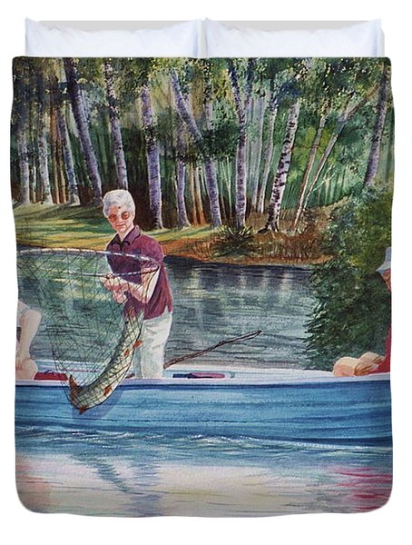 Musky Madness Duvet Cover by Marilyn Smith