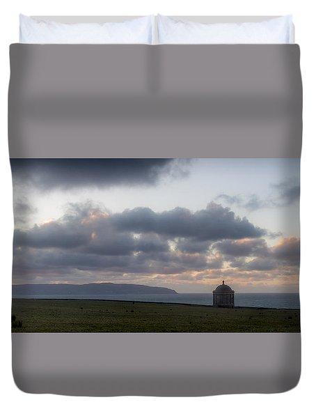 Musseden Temple Sunset Duvet Cover