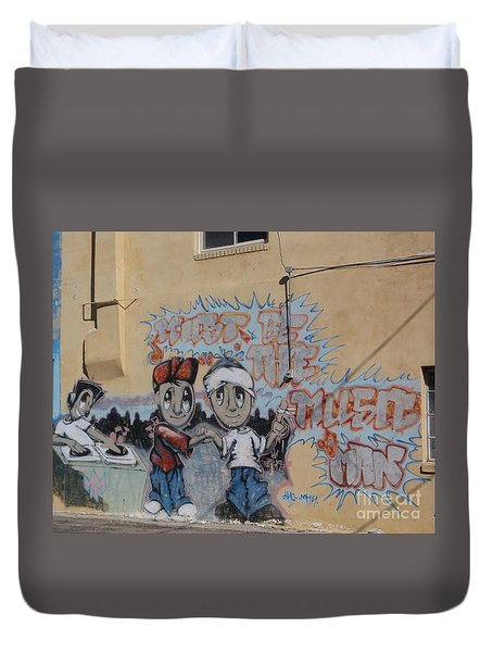 Must Be The Music Man Duvet Cover