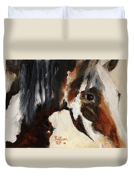 Mustang In My Heart Duvet Cover
